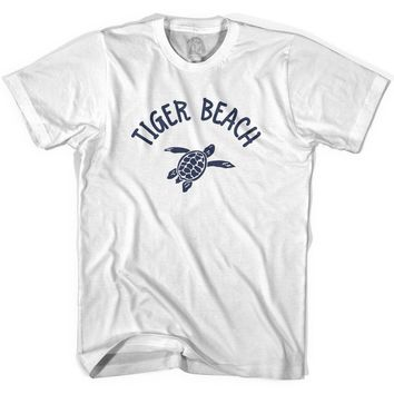 Tiger Beach Sea Turtle Womens Cotton T-shirt