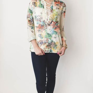 Woven Top - Floral