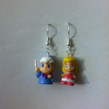 Cinderella and Fairy Godmother Earrings by PurplePandaJewelry