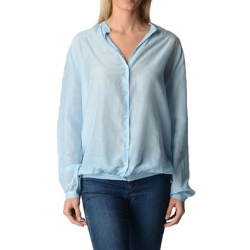 Fred Perry Womens Blouse Light Blue