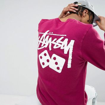 Stussy Sweatshirt With Dice Back Print at asos.com
