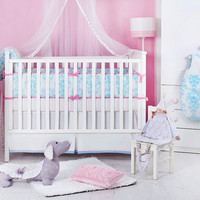 Novela Ela 3 Piece Baby Bedding Set in Light Blue