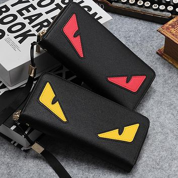 Fendi New fashion eye shopping couple leather wallet bag handbag