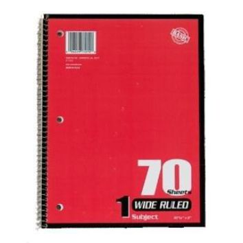 *NORCOM NOTEBOOKS WIDE RULED 70 SHEETS 1 SUBJECT