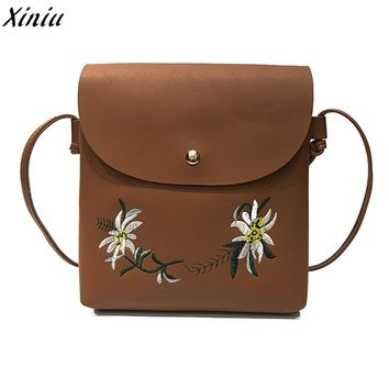 Women Embroidery Messenger Bags Floral Embroideried Shoulder Bags Vintage Small Handbag Body Bags sac cabas femme #9725