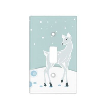 Snowy Deer Light Switch Cover