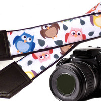 Owl camera strap. Birds camera strap. DSLR / SLR Camera Strap. Camera accessories for canon, nikon, fuji, sony, panasonic & other cameras.