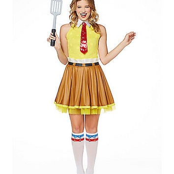 Spongebob Dress Adult Womens Costume - Spirithalloween.com