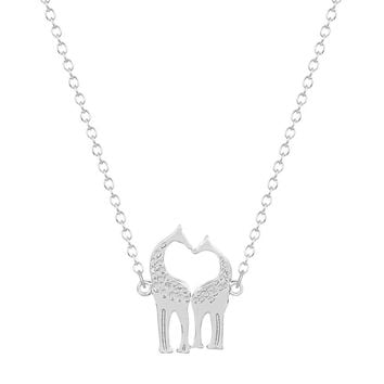 Double Loving Giraffe Necklace