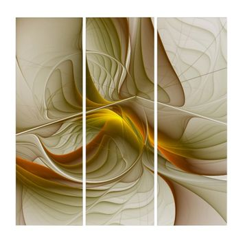 Colors of Precious Metals, Abstract Fractal Art