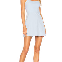 VIENNA A-LINE MINI DRESS IN LIGHT BLUE