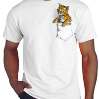Kitten in Pocket T-shirt/tee