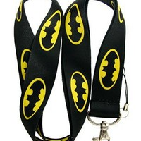 Batman Logo Lanyard Keychain ~Super Hero~