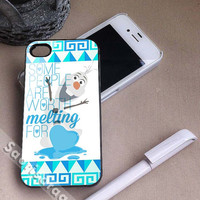 Olaf Love Quote Disney Frozen for iPhone 4/4s, iPhone 5, 5s, 5c Case, Samsung Galaxy S3, S4 Case