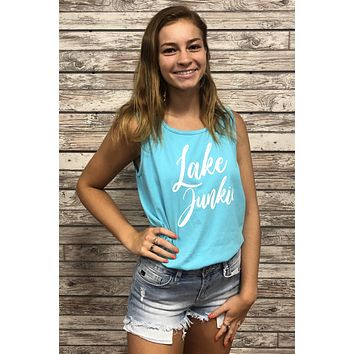 Lake Junkie Top- Teal