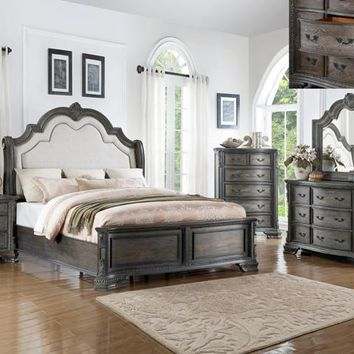 Sheffield Antique Grey Bedroom Set
