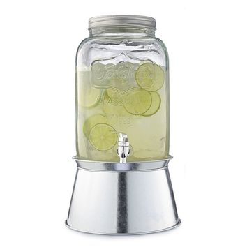 SONOMA life + style 2-Gal. Mason Jar Glass Beverage Dispenser with Stand (Clear)