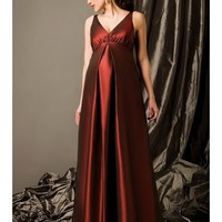 Beautiful Taffeta V-Neck Empire Waist A-Line Maternity Gown SB2135