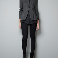 WOOL HERRINGBONE JACKET - Blazers - Woman - ZARA United States