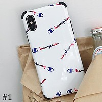 Champion x Off ow white x Boy london Tide brand thick iPhone7/8plus all inclusive phone case #1