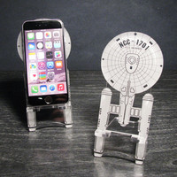 Star Trek Enterprise NCC-1701 Original Series Universal Smart Phone Stand - iPhone 6, Plus, iPhone 5 - 4, Android, Samsung Galaxy s3 s4 s5