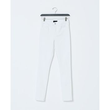 Blanc High-Waist Skinny Denim Jeans - White
