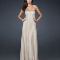Strapless Sweetheart with Beadings Floor Length A-line Chiffon Prom Dress PD2157 Dresses UK