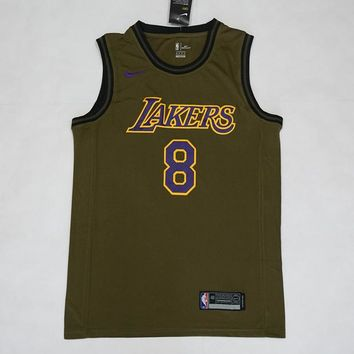 Los Angeles Lakers #8 Kobe Bryant NBA Salute To Service Jerseys - Best Deal Online