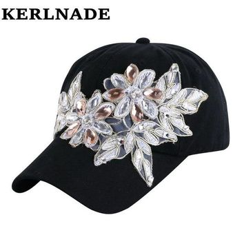 DCCKU62 latest design model beauty CROWN shaped crystal beads bling rhinestone girl women luxury brand denim snapback hats baseball caps