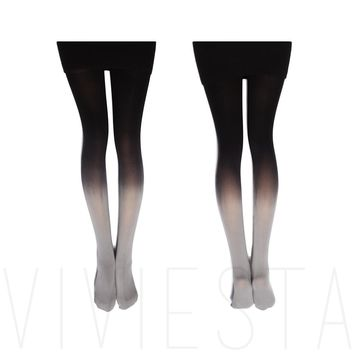 DIP DYED GRADIENT OPAQUE TIGHTS - 120D Women's Girls' New Fashion Candy Color Colorful Ombre Hand Dye Thick Stockings Pantyhose