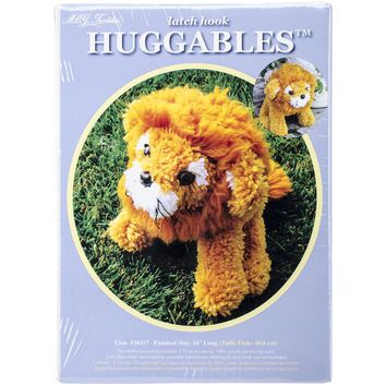 Lion Huggables Stuffed Toy Latch Hook Kit 16""