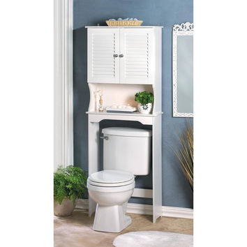 Coastal Living-White Shutter Bathroom Space Saver Cabinet