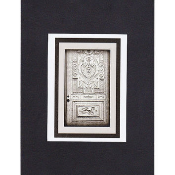 Gothic Dark Architecture Art, LaLaurie Door, ACEO  Haunted New Orleans, Miniature Door Art Print