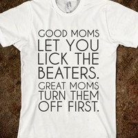 Supermarket: Good Moms T-Shirt from Glamfoxx Shirts