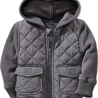 Quilted Performance Fleece Jackets for Baby