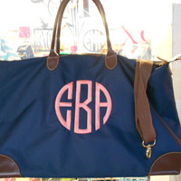 Champ Weekender  Bag Monogram Font Shown NATURAL by MONOGRAMSINC