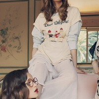 Wildfox Diet Drop Out Heights Crew Tee in Vanilla Latte