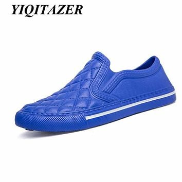 YIQITAZER 2017 Nice Home Summer Slippers Men Shoes,Floor Indoor and Outdoor PVC Funny Beach Soft Light Slipony Loafers Man