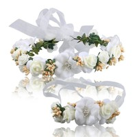 Stylish Jewelry Gift Shiny Wedding  Wrist Corsage Sea Headwear [11618158228]