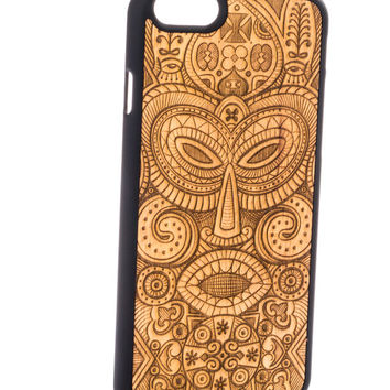 African Mask from Tanganica - iPhone 6/6S Wood Cover - Unique iPhone wood case -FREE WORLDWIDE SHIPPING!Handmade in Europe!