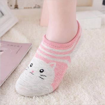 Animal Rabbit Cat Watermelon Socks Funny Crazy Cool Novelty Cute Fun Funky Colorful