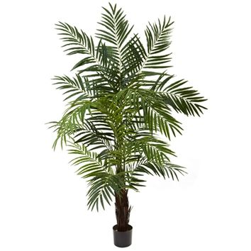 SheilaShrubs.com: 6' Areca Palm Tree 5408 by Nearly Natural : Indoor Garden Decor Silk Trees & Plants