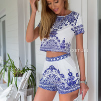 Porcelain Princess Top (Blue Print)