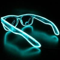 Rayban Wayfarer Sunglasses, Powered, Glow in the Dark Sunglasses, Neon, Rave, Light Up