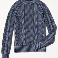 Signature Cotton Fisherman Sweater, Washed: Sweaters | Free Shipping at L.L.Bean