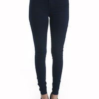 Bombshell High Waist Jeans midnight Navy Blue