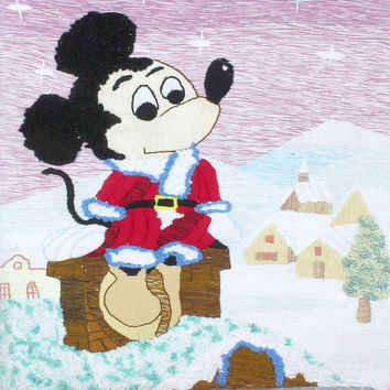 Handmade art tapestry tapestry wall mural hall classic decorative paintings of Mickey Mouse