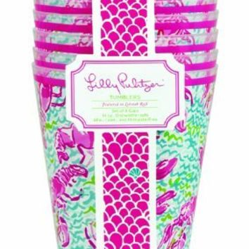 Lilly Pulitzer Set of 8 Tumblers - Lobstah Roll