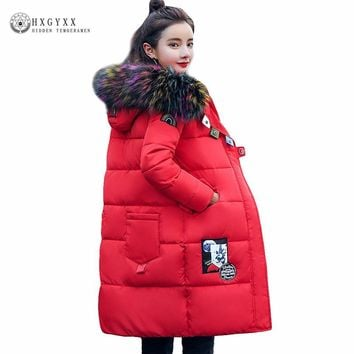 2017 Winter Jacket Women Down Parka Colorful Faux Fur Fashion Hooded Quilted Puffer Outwear Warm Plus Size Ladies Coats Okb160
