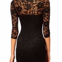 Lace Crochet Slim Dress For Women